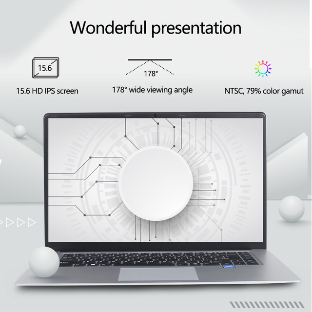 Laptop 15.6 inch 8G RAM 128G 256G 512G 1TB SSD ROM Notebook Computer intel Core Quad Windows 10 Ultrabook For Students Office 2