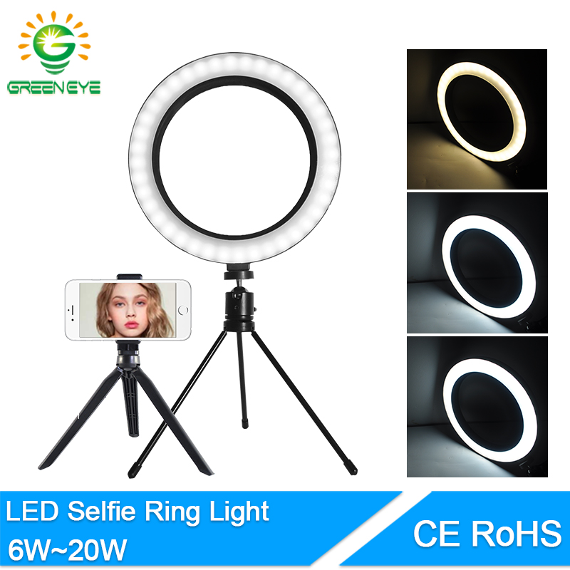 LED Selfie Ring Light 8.3 10 Inch 10W 20W USB 5V Dimmable LED Ring Lamp Photo Video Camera Phone Light  Live YouTube Fill Light