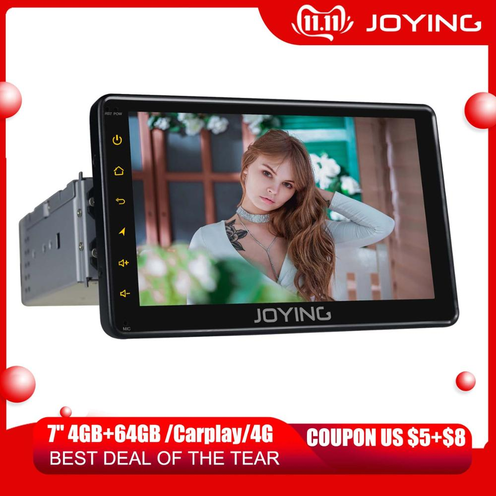 JOYING 7Android 8.1 Car Radio Stereo Single 1 Din Universal Head Unit Multimedia No DVD Player WIFI Steering Wheel Bluetooth FM image