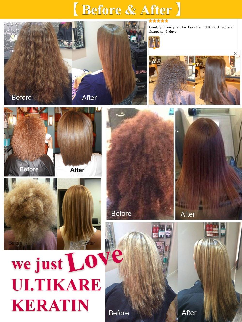 Купить с кэшбэком Keratin Hair Treatment no formaldehyde 300ml Brazilian Keratin Smoothy Shiny For Damaged Hair Treatment Eliminate frizz
