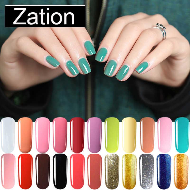 Zation 24 Renkler Bir Adım 3 In 1 Jel oje Hibrid manikür seti Poli jel boyama sanat UV LED lambası tırnak jeli Varinishes