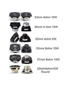Bookshelf Speakers Computer 2inch Music Portable Full-Range 2pcs Ohm 1 10W 4-8 53mm TV