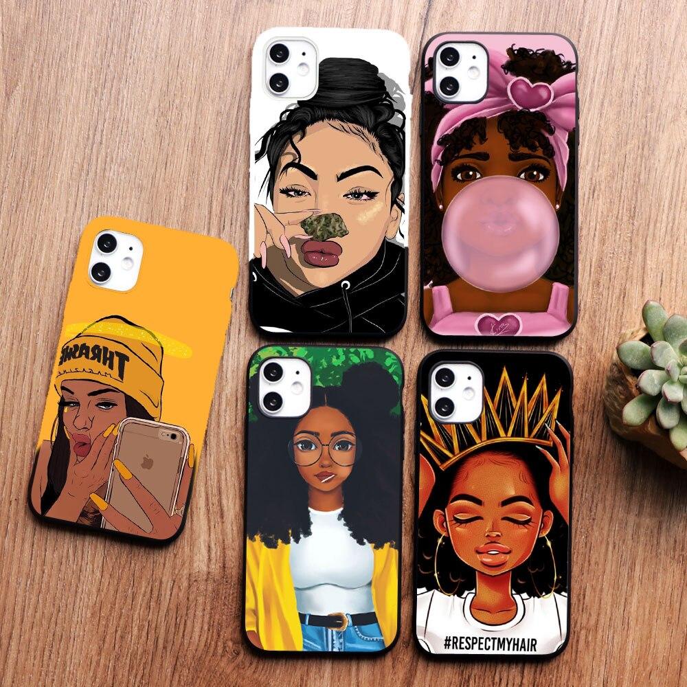Black Girl Magic Melanin Poppin Queen Art Phone Case For Iphone 11
