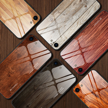 Wood Grain Mirror Phone Case For 7 8 6 6s Plus iPhone Xr X Xs Max Luxury Tempered Glass Case For iPhone 11 Pro Max Back Shell wood texture tempered glass phone case for iphone 11 pro max x xs max xr 7 8 6 6s plus soft protective luxury back cover fundas