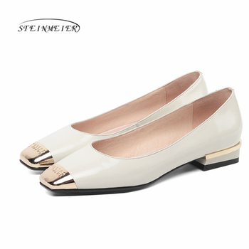 Women flats summer spring single oxford shoes 2020 genuine leather flat heels fashion shoes for woman brogues Slip  on shoes