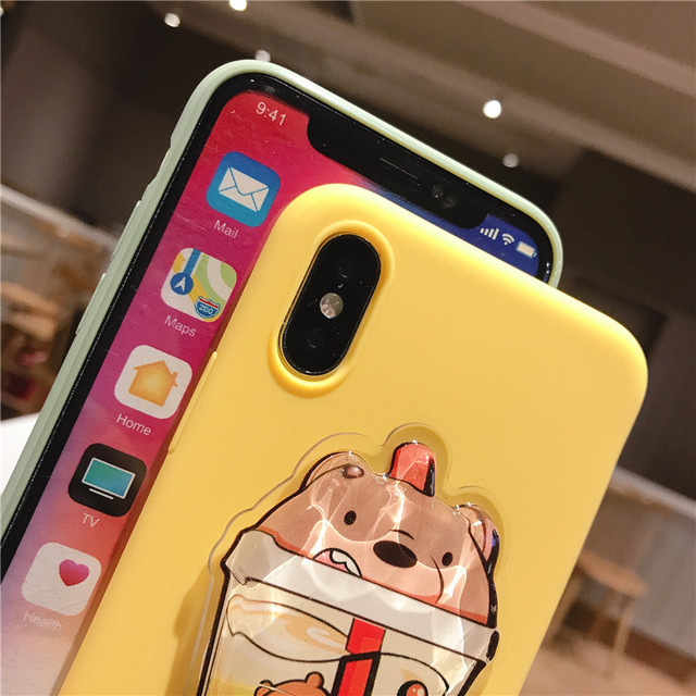 Cartoon Squishy Bear Case for iPhone