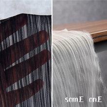 Полосатая плиссированная ткань сетка органза трехмерная сделай
