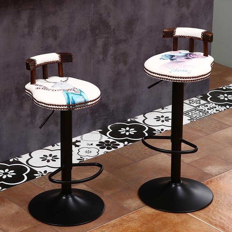 Bar Chair Lift Home Modern Minimalist Cash Register Bar Chair European Bar Chair High Stool Bar Stool Back Chair