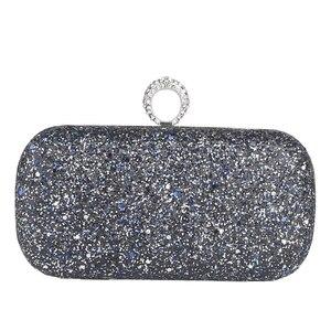 Роскошный клатч со стразами; вечерняя сумочка со стразами; мини-сумочка с кольцом для женщин; Свадебная вечеринка