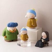 Decoração de mesa de figuras de artista criativas, modelo de personagem de desenho animado, acessórios de decoração para casa, sala de estar, presente