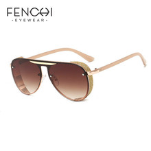 FENCHI brand sunglasses women trendy luxury sunglasses for w