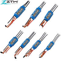 4pcs/lot ZTW Beatle Series AL 20A 30A 40A 50A 60A 70A 80A ESC 5V/3A BEC For RC Drone RC Helicopterfor 400-500 Class Fixed-wing