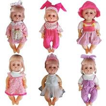 Boneca vestido apto para 30cm bebê boneca reborn bebês roupas 12 Polegada bonecas acessórios 6 conjuntos meninas roupas moda roupa brinquedos