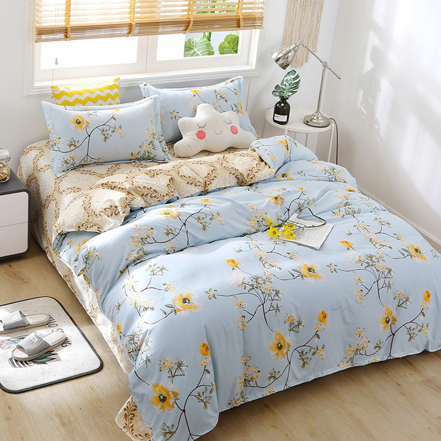 Nordic Bedding Set Blue Small Flowers 12