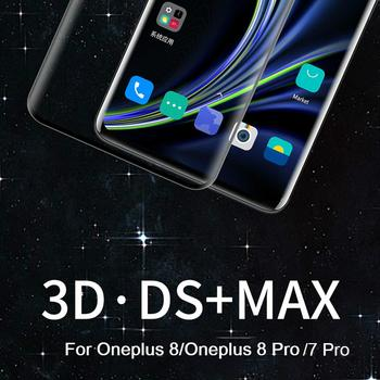 Original NILLKIN 3D DS+MAX Protective Screen Protector For Oneplus 8 Pro Glass Film For Oneplus 8 7 Pro Tempered Glass 9H Safety