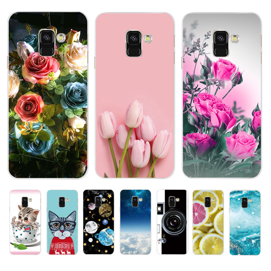 For Cases Samsung <font><b>Galaxy</b></font> A8 <font><b>2018</b></font> Case Samsung A8 <font><b>A</b></font> <font><b>8</b></font> Plus <font><b>2018</b></font> Cover Soft Silicone TPU Phone Case Coque Capa Protector Bumper image