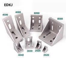 5/10pcs 2020 2028 3030 3060 4040 4080 6060 8080 Aluminum corner bracket for 20/30/40/45/60 Aluminum profile connector CNC Router