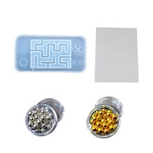 DIY Handmade Crystal Epoxy Silicone Mold UV Jewelry Pendant Resin Molds Making New Shake the maze Water Injection Hollow quicksa automobile cheap plastic injection molds making