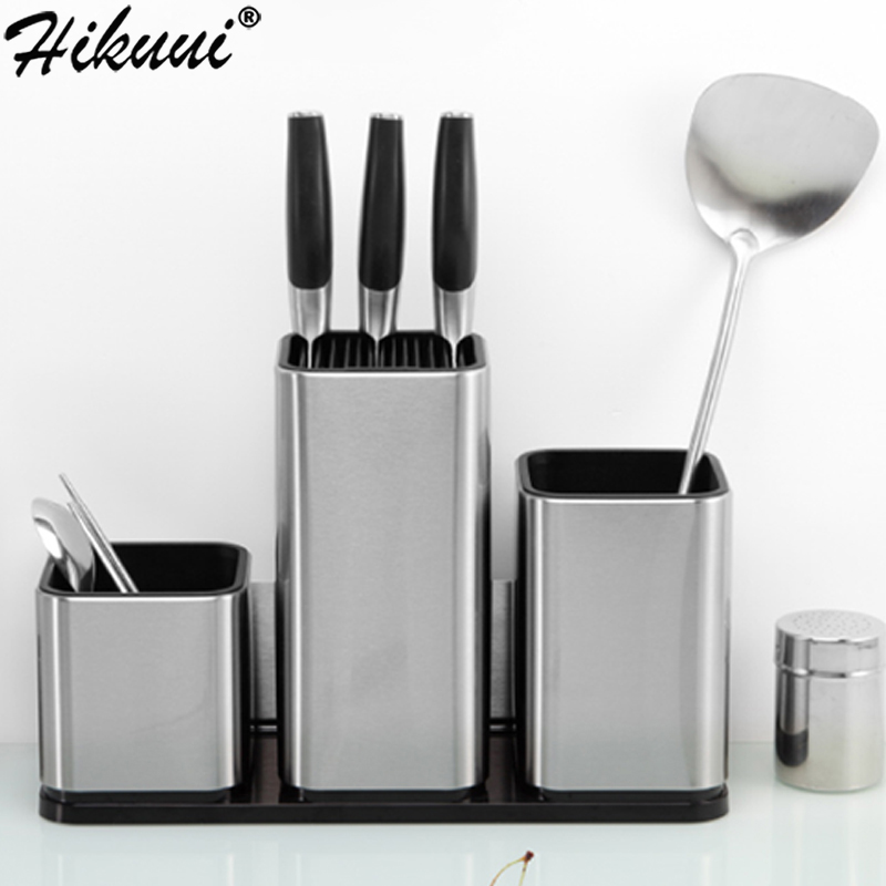 Kitchen Storage For Knife Holder Stand Stainless Steel Merger Cooking Tools And Knife Stand Kitchen Storage Accessories