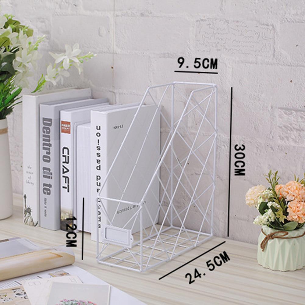 Nordic Book File Stand Iron Desktop Multi-layer Magazine Rack Cosmetic Storage Rack UND Sale