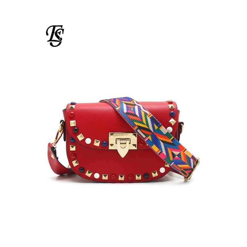 E.SHUNFA Pu Leather Shoulder Bag For Women Black Small Bag  Crossbody Bag Color Shoulder Strap Luxury Bag Women Bag  DesignerShoulder Bags