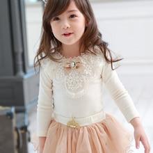 Children Blouse Long-Sleeve Baby-Girls Shirt Spring Solid-Tops White School Kids Cotton