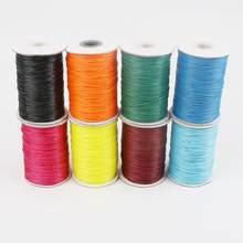 10 m 1.5mm cabo de algodão encerado fio fio encerado corda cinta colar cordão de corda para fazer jóias diy pulseira