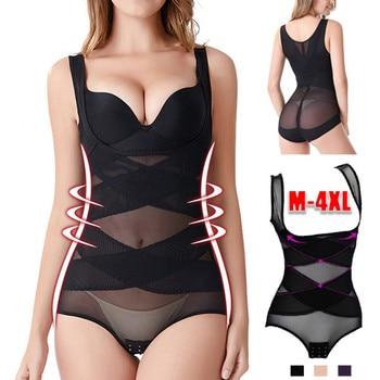 Fashion Women Plus Size Seamless Firm Control Shapewear Faja Open Bust Bodysuit Body Shaper  Waist Trainer Free Ship корсет Z4 1