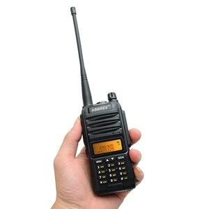 Image 4 - 2020 Abbree AR F3 Tri Band 8w Walkie Talkie uhf vhf 220 260MHz ham lungo raggio palmare two way radio cb Ricetrasmettitore Da Trekking uv 5r