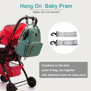 Image 2 - Bebek bezi çantası sırt çantası USB portu bebek çantası büyük bebek çantası anne için kanca ile bebek bezi değiştirme analık çanta Bebe organizatör çantası