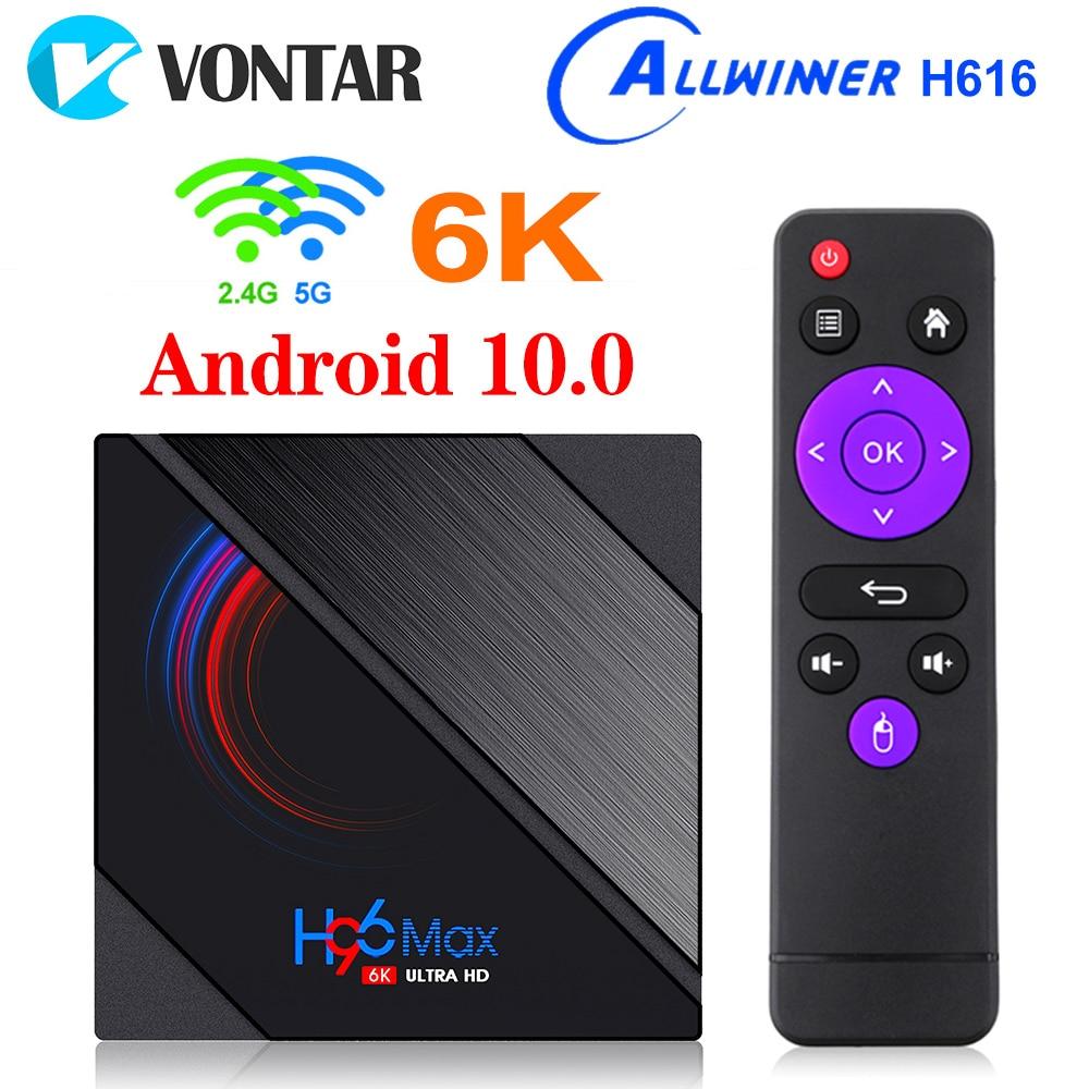 VONTAR H96 Max H616 Smart TV Box Android 10 4GB RAM 64GB 1080p 4K BT GooglePlay Store Youtube H96Max Media Player Set top Box