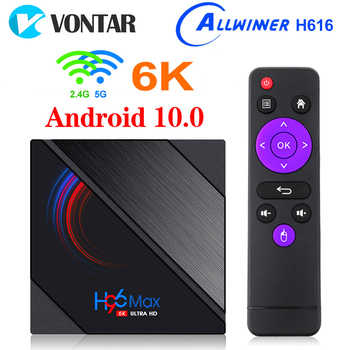 VONTAR H96 Max H616 Smart TV Box Android 10 4GB RAM 64GB 1080p 4K BT GooglePlay Store Youtube H96Max Media Player Set top Box