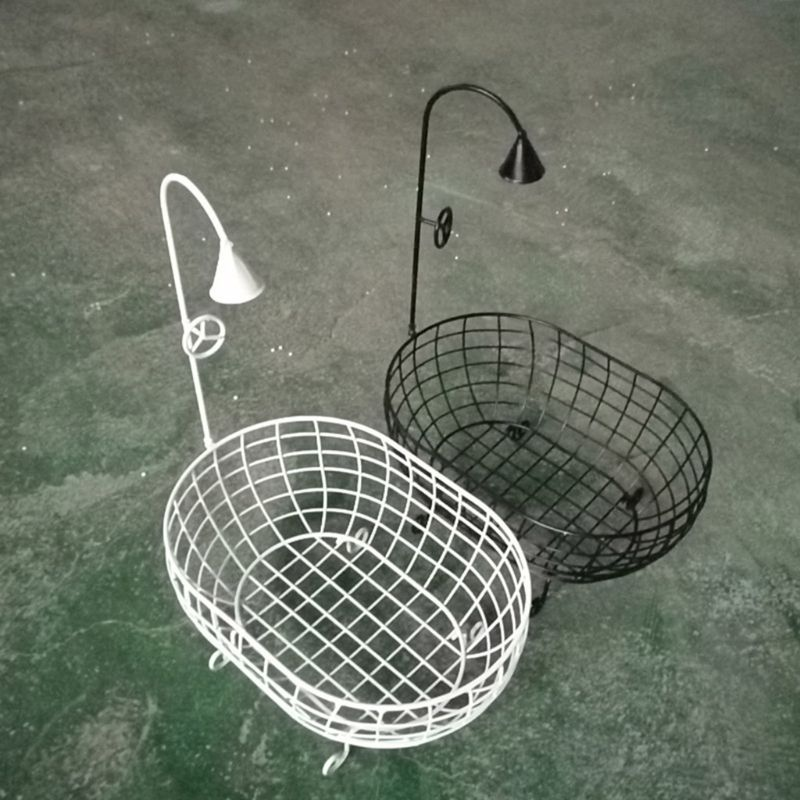 Iron Basket Shower Bathtub Novelty Posing Sofa Baby Photography Prop Accessories