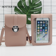 Women's PU Mobile Phone Bag Fashion Female Small Messenger Bags Lady Crossbody Shoulder Bags Clutches Mini Phone Bag Pouch Case yiyohi women fashion pu fight color small shoulder bag star messenger storage bag gril crossbody bag 5 5 inch mobile phone bag