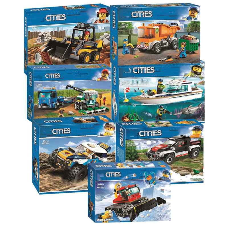 In Stock City Series Bricks Harvester Transport Compatible Legoingly City 60223 60222 Building Blocks For Kids Christmas Gift