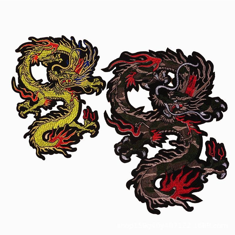 Мультфильм животных со змеиным рисунком дракона с буквами в стиле «панк» с аппликацией и вышивкой платье железа на патчи для одежды значки ...