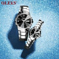 Luxury Lover Watches For Couple Watches Pair Men And Women Stainless Steel Quartz Reloj Mujer Hombre Auto Date Waterproof