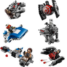(GonLeI) 6Pcs/Set Star Wars Spaceship Microfighters Millennium AT-ST Fighters Building Blocks Bricks Toys with Legoinglys(China)