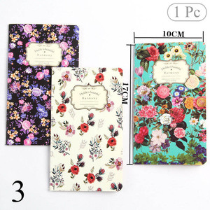 1PC Cute Flower Diary Sketchbook Vintage Bullet Journal Kraft Paper Notebooks For Kid Girl School Office Supplies Stationery