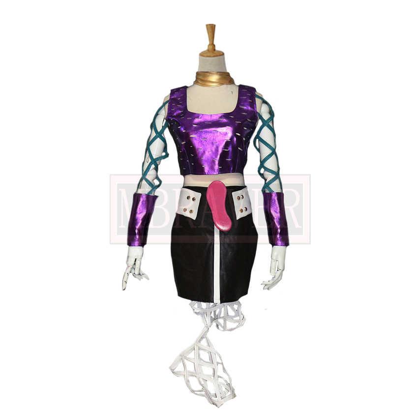 Jojo bizarro aventura narciso anasui reversão sexo feminino conjunto cos festa de halloween cosplay traje feito sob encomenda qualquer tamanho