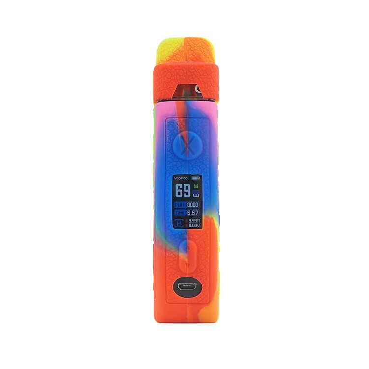 テクスチャケースため VOOPOO · ヴィンチ × 70 ワットポッド mod キット蒸気を吸うシリコーン皮膚抗スリップゴムスリーブカバーシールドラップ 10 個