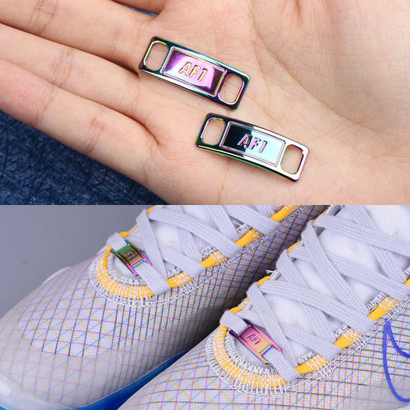 2pcs AF1 Shoelace Buckle shoelaces Accessories Sneaker Metal Lace Lock DIY Kit