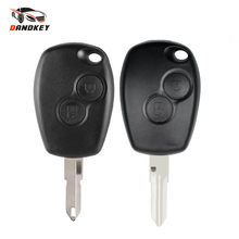 Dandkey Remote Key Shell For Renault Duster Clio DACIA 3 Twingo Logan Sandero Modus For Nissan 2 Buttons Car Alarm Key Case(China)