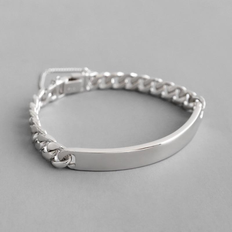 HFYK 925 Bracelets en argent Sterling mode épais chaîne Bracelets pour femme argent Bracelets pulseira feminina pulseras bileklik