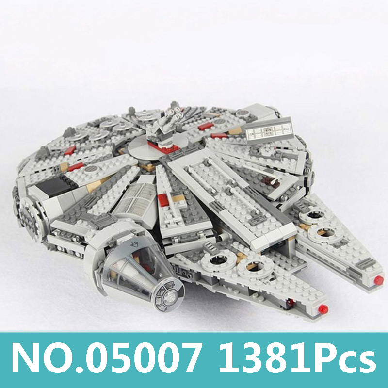 05007 1381Pcs Force Awakens Millennium Falcon Star Ship Building Blocks Star Wars 79211 75105 Star Figures