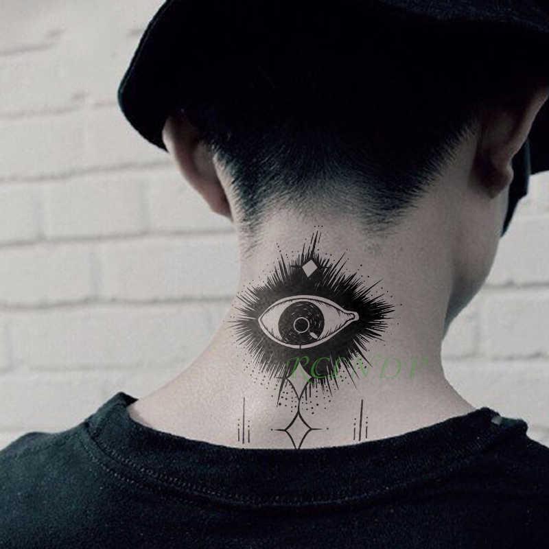 Tahan Air Stiker Tato Sementara Mata Palsu Tatto Flash Tato Tangan Kaki Bahu Leher Belakang Tatouage Untuk Gadis Pria Wanita Femme Sementara Tato Aliexpress