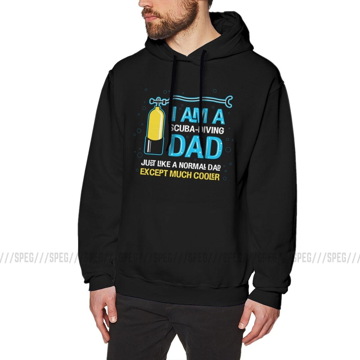 Image 2 - Mens Sweatshirt Im A Scuba Dive Dad 100% Cotton Gift Novelty Hoodies PulloversHoodies