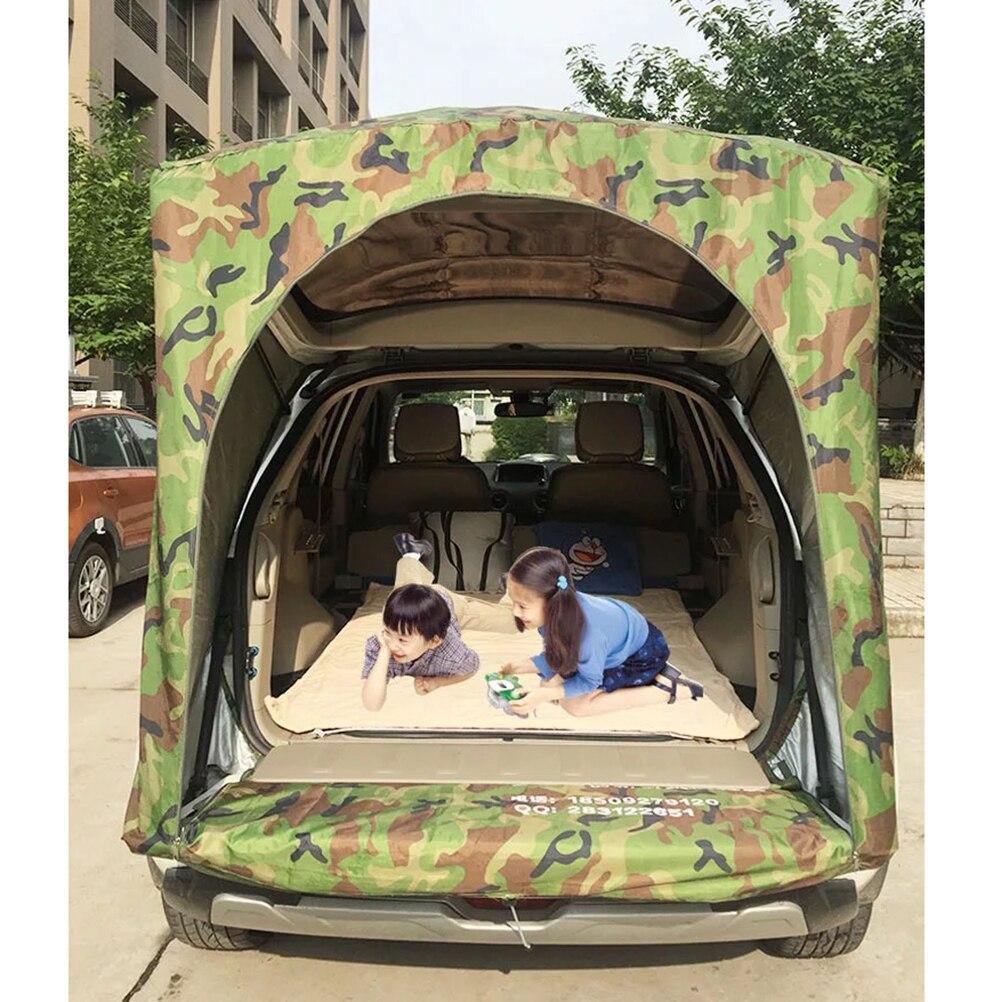 หลังคารถด้านหลังกลางแจ้งอุปกรณ์ตั้งแคมป์เต็นท์กันสาดหางLedgerปิกนิกกันสาดสำหรับRenault Koleos SUVเท่า...