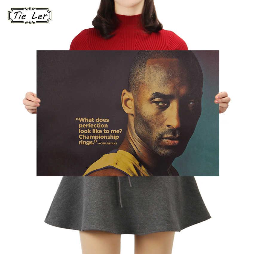 TIE LER винтажный баскетбольный плакат знаменитостей бар Детская комната Домашний декор крафт-бумага настенные наклейки, живопись 50.5x35cm