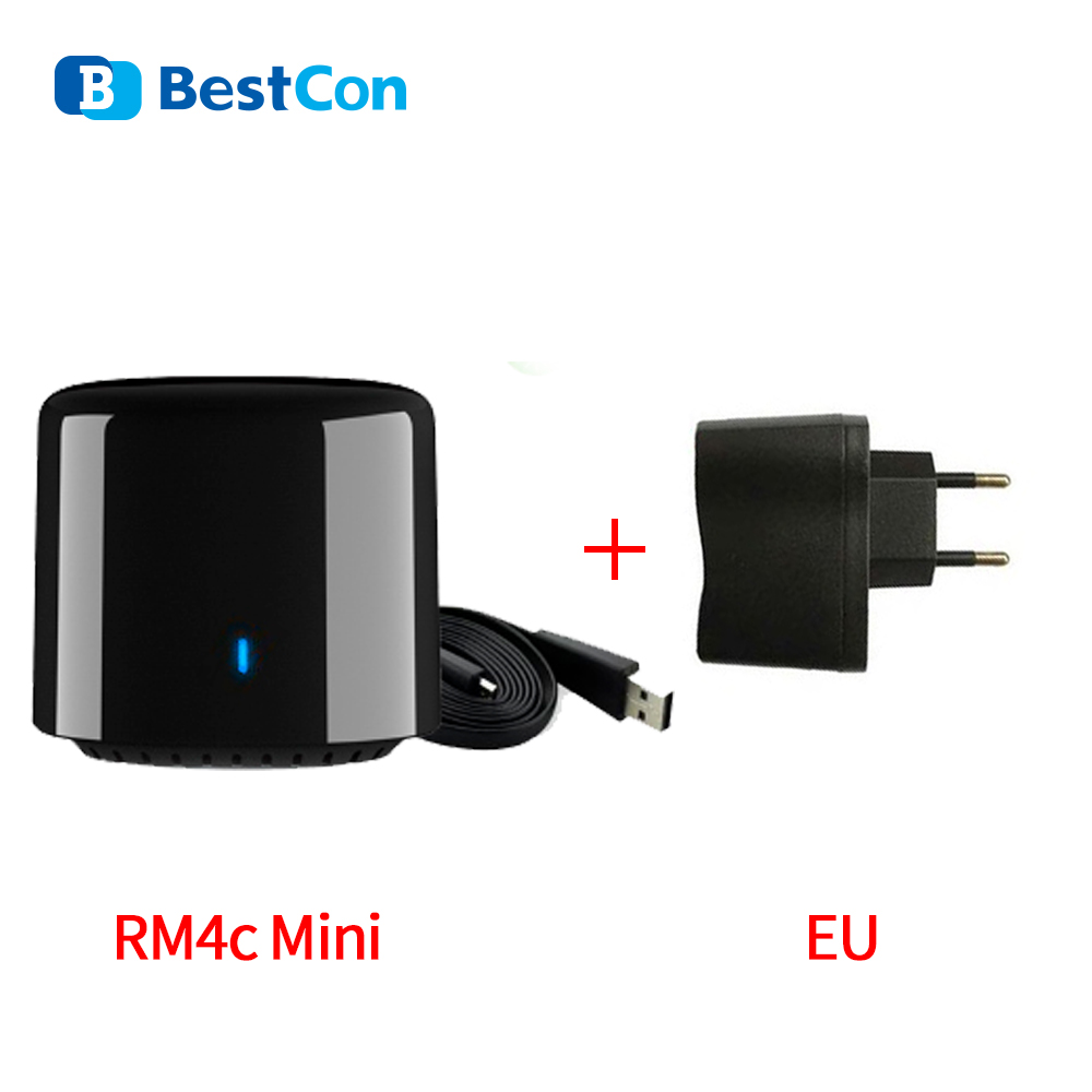Broadlink RM4C Mini Smart Home Automation Intelligent WiFi IR Remote Controller for Google Home Works with Sonoff